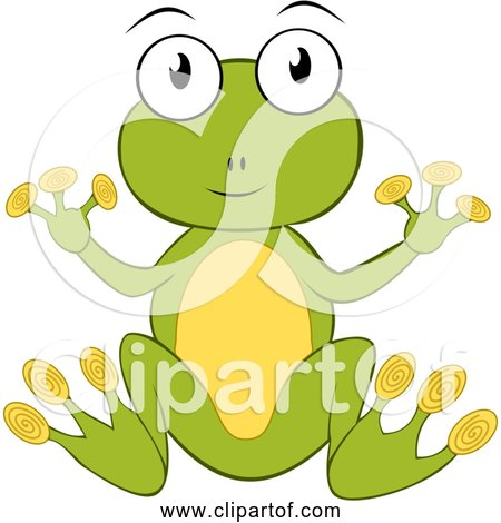 Free Clipart of Cartoon Green Frog