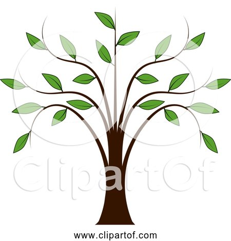 Free Clipart of Whispy Tree