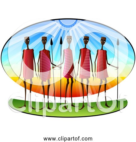 Free Clipart of African Stylized Masai