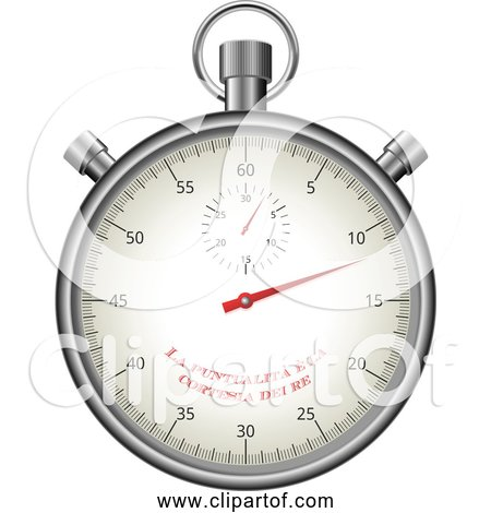 Free Clipart of a Stopwatch