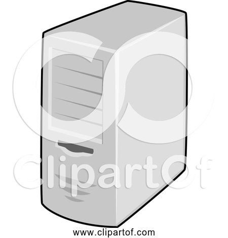 Free Clipart of a Server Computer Tower