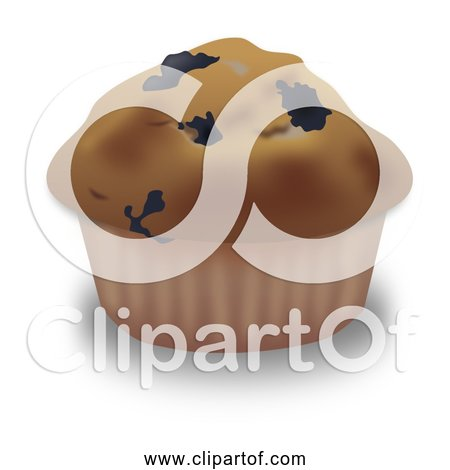 Free Clipart of Blueberry Muffin