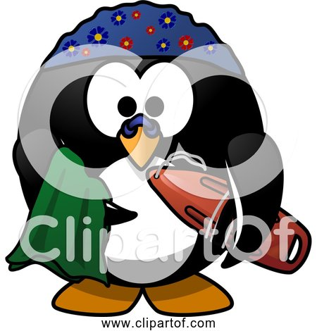 Free Clipart of Cartoon Swimmer Penguin