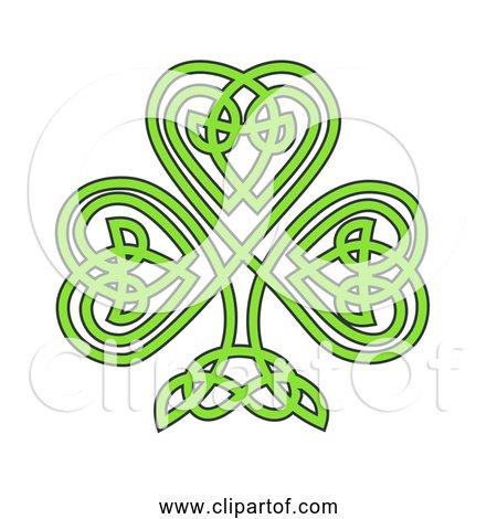 Free Clipart of Celtic Shamrock