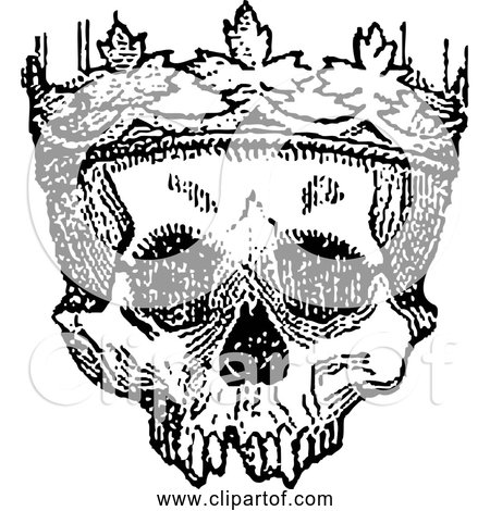 Free Clipart of King of the Dead Human Skull