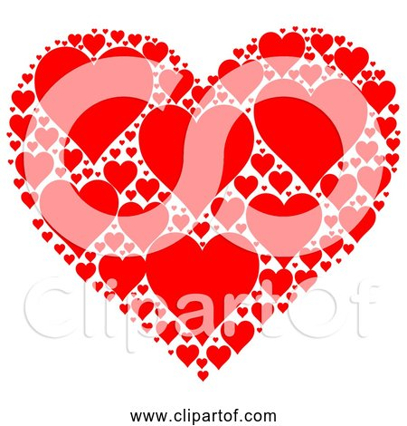 Free Clipart of Red Love Hearts In Heart