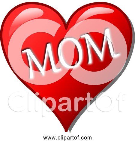 Free Clipart of Mother's Day Love Heart