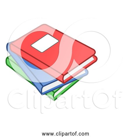 Free Clipart of Stack of Three Books