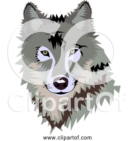 Free Clipart of Grown Wolf