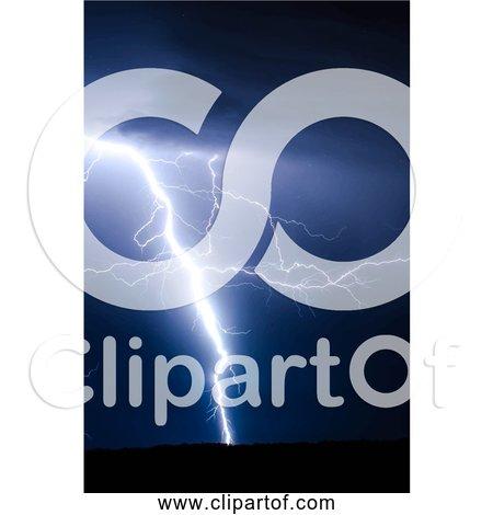 Free Clipart of Dark Lightning Strike