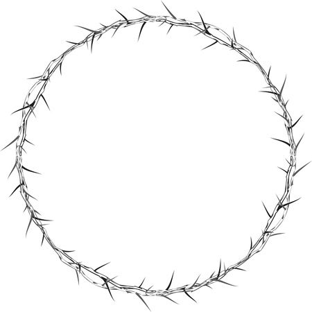 Free Clipart Of A crown or round frame made of thorns