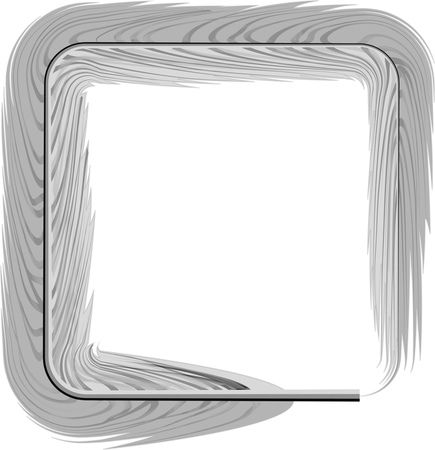 Free Clipart Of A grayscale square feather frame