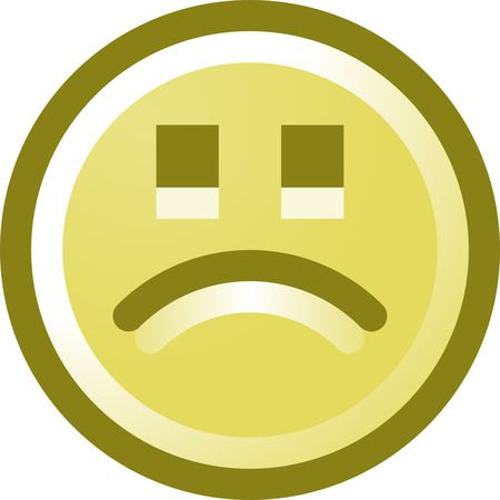 Free Frowning Smiley Face Clip Art Illustration