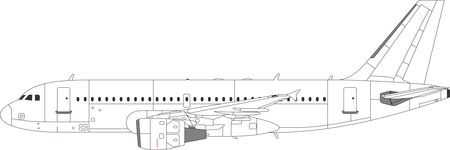 Free Clipart of a Commercial Airliner