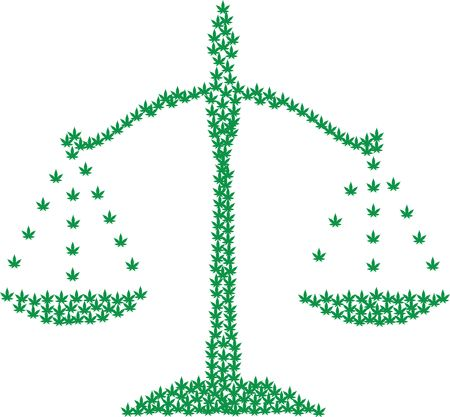 Free Clipart of a Cannabis Marijuana Pot Leaf Scale