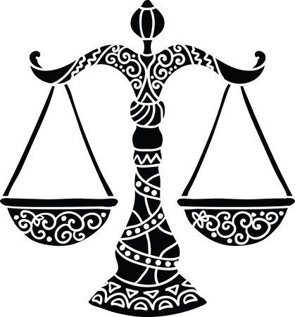 Free Clipart Of Horoscope Astrology Zodiac Libra Scales