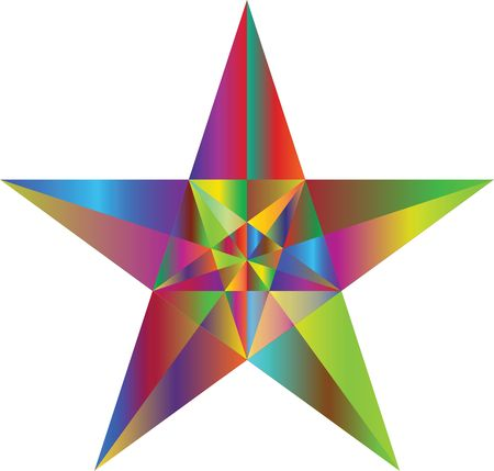 Free Clipart of a Geometric Star Colorful