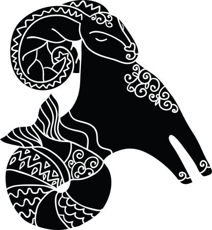 Free Clipart Of A Horoscope Astrology Zodiac Capricorn Sea Goat