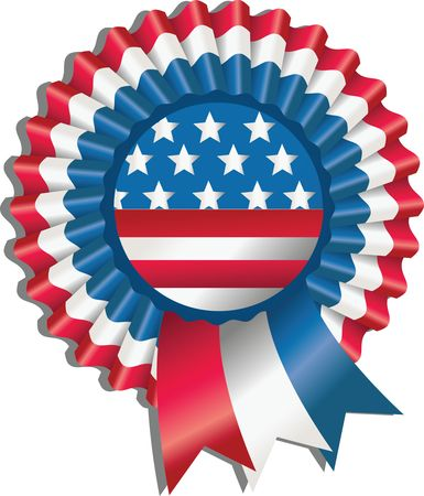 Free Clipart Of A Fourth of July Award Ribbon