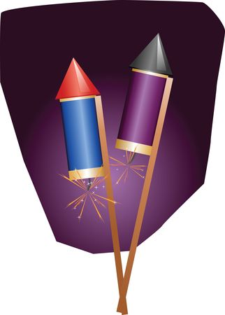 Free Clipart Of Fireworks on Sticks