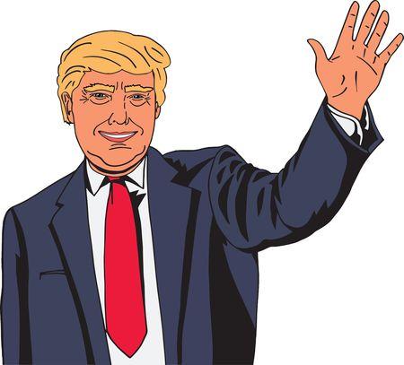 Free Clipart Of Donald Trump Waving