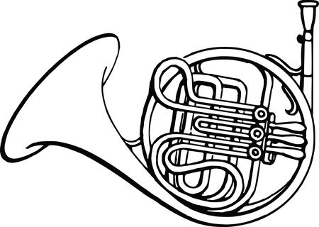 Free Clipart Of A french horn