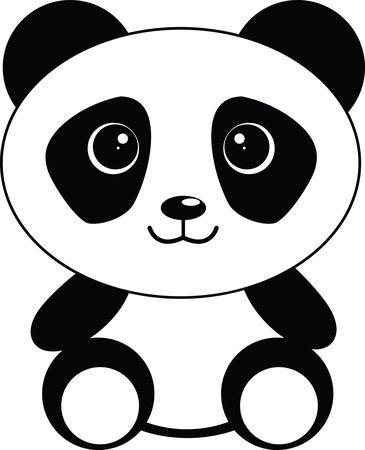 Free Clipart of a Cute Sitting Panda