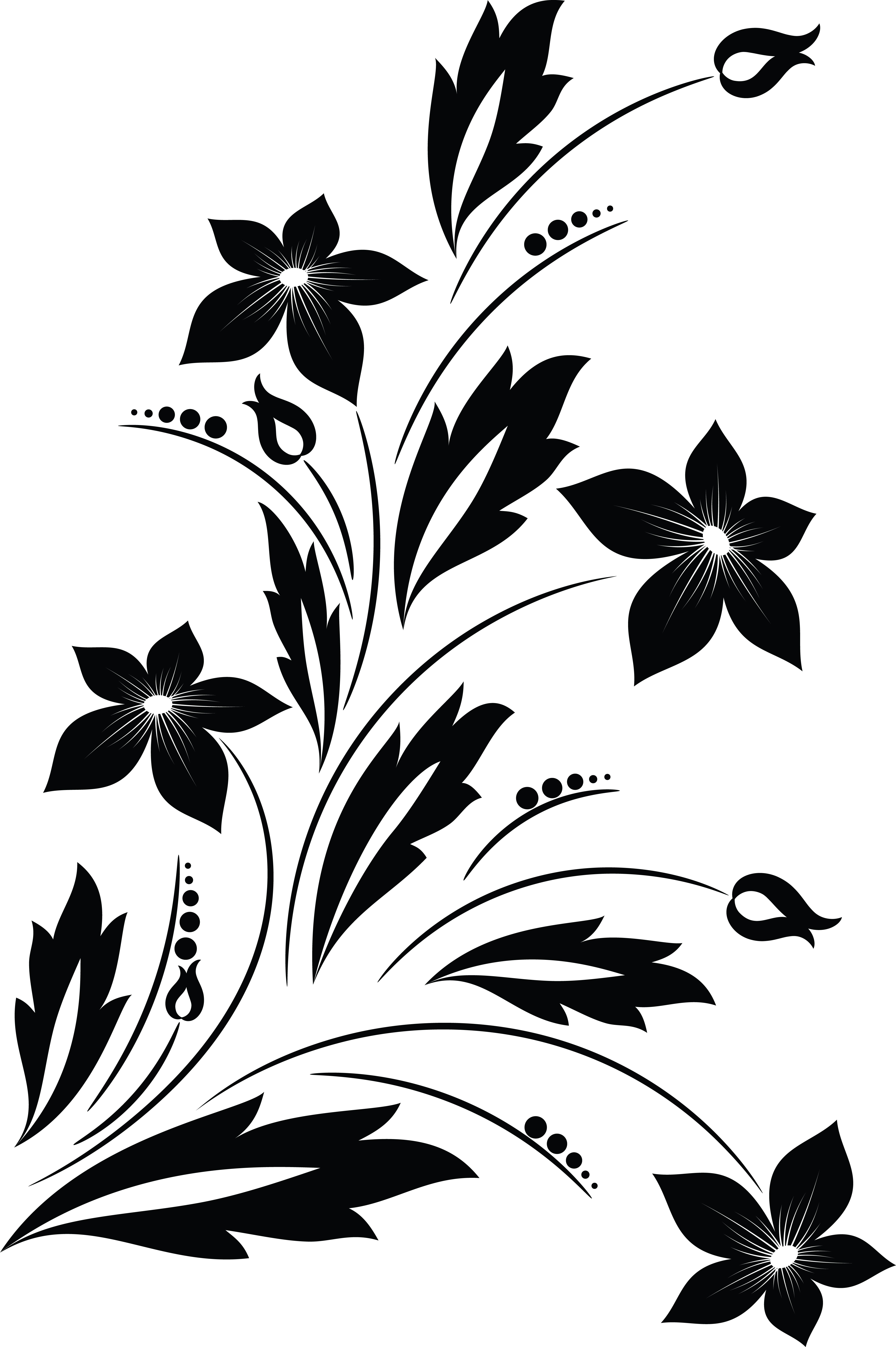 free clipart of a black and white floral vine design element rh free clipartof com design clipart design clipart black and white