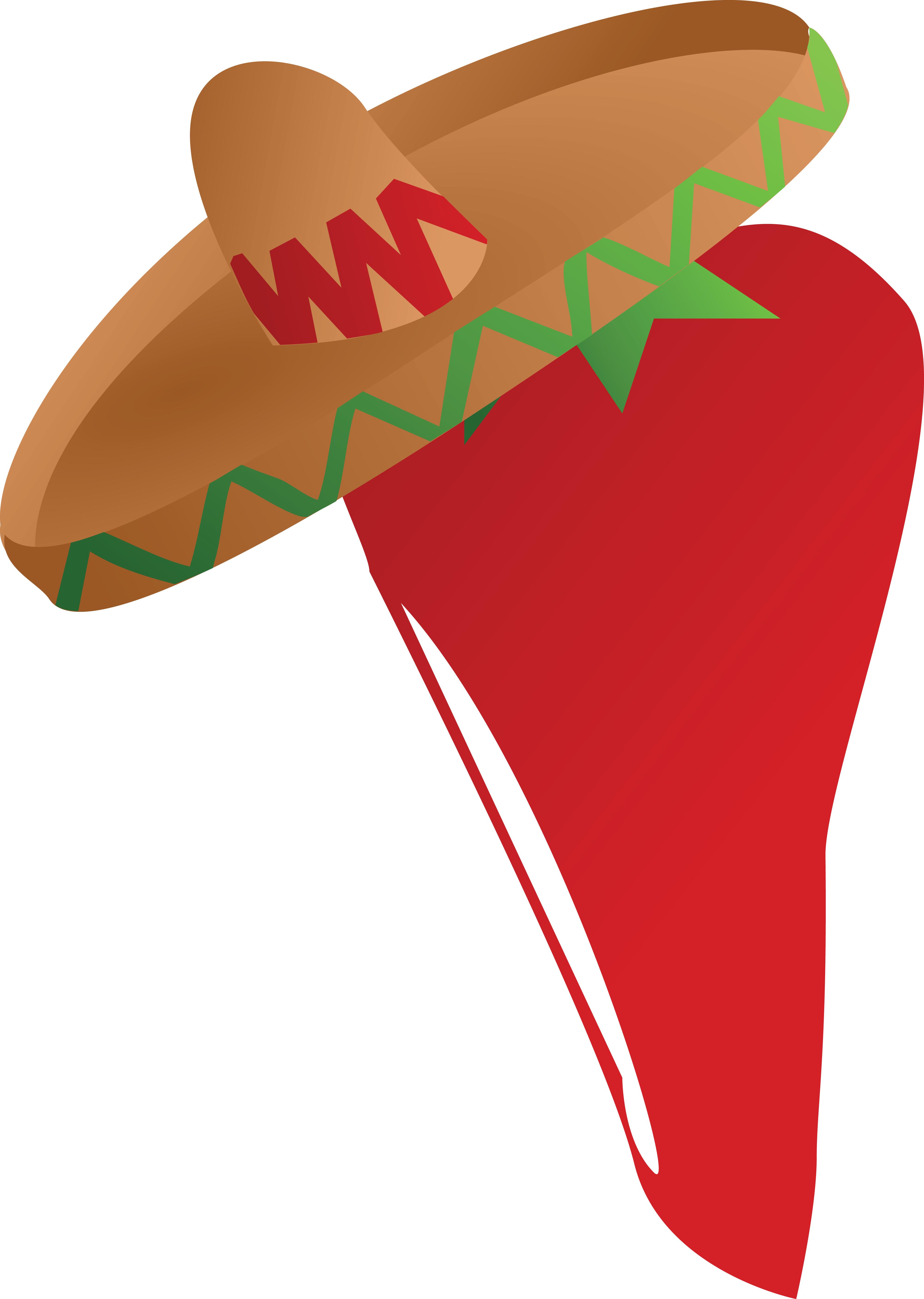 clipart of a mexican chili pepper wearing a sombrero hat rh free clipartof com chili pepper free clipart cartoon chili pepper clip art free