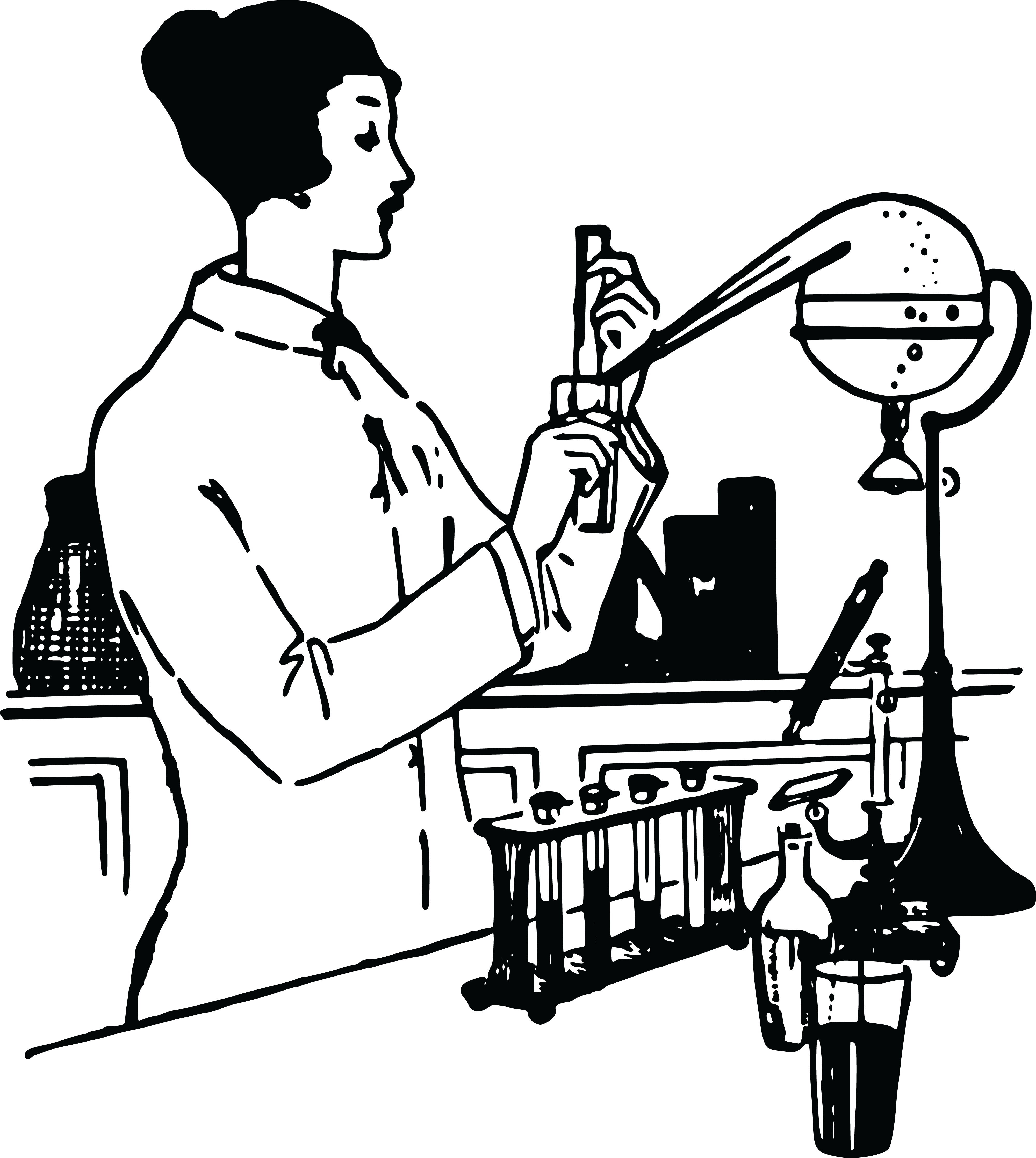 Free Chemistry Drawing at GetDrawings | Free download |Lab Chemist Drawings
