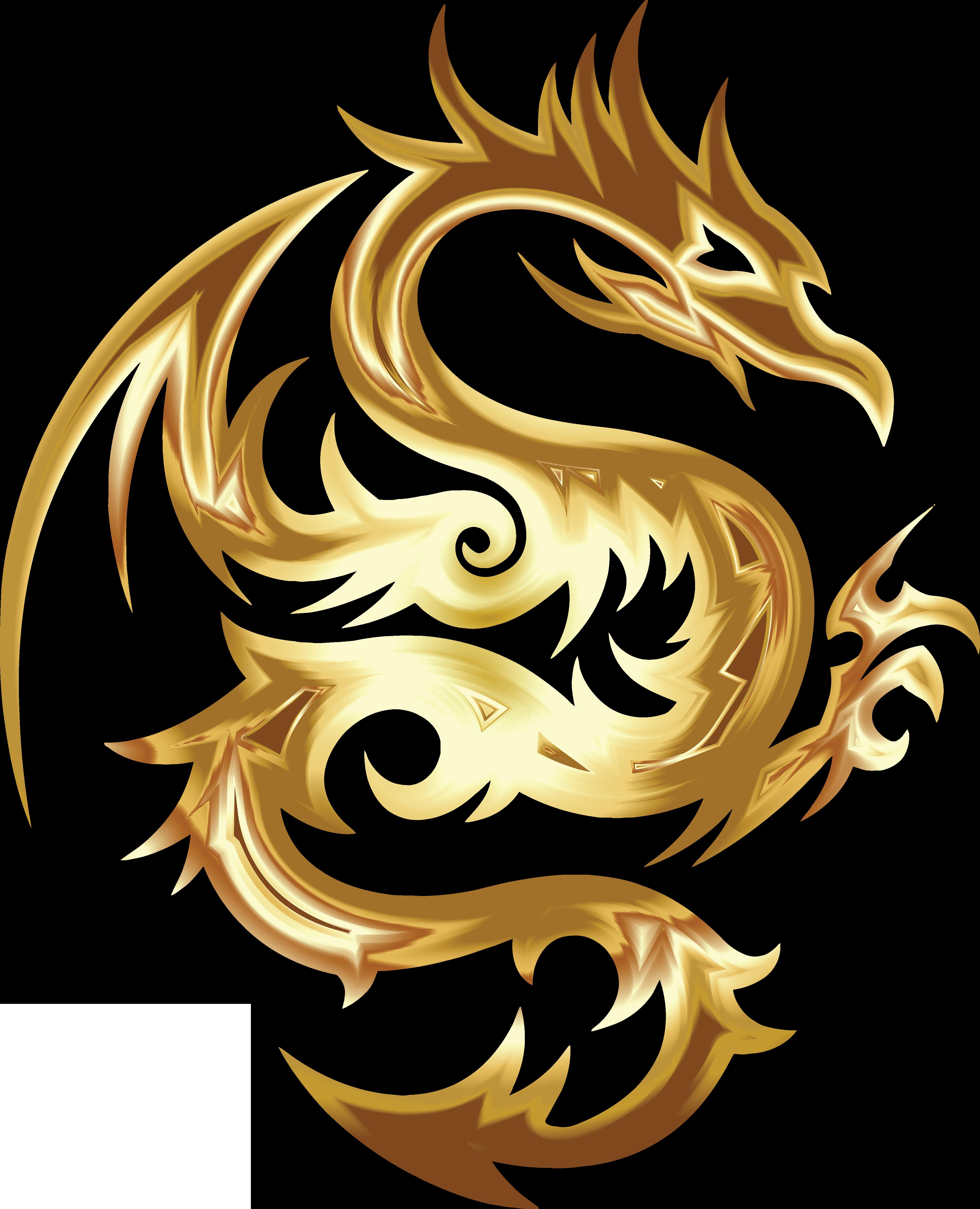 Tribal dragon logo png