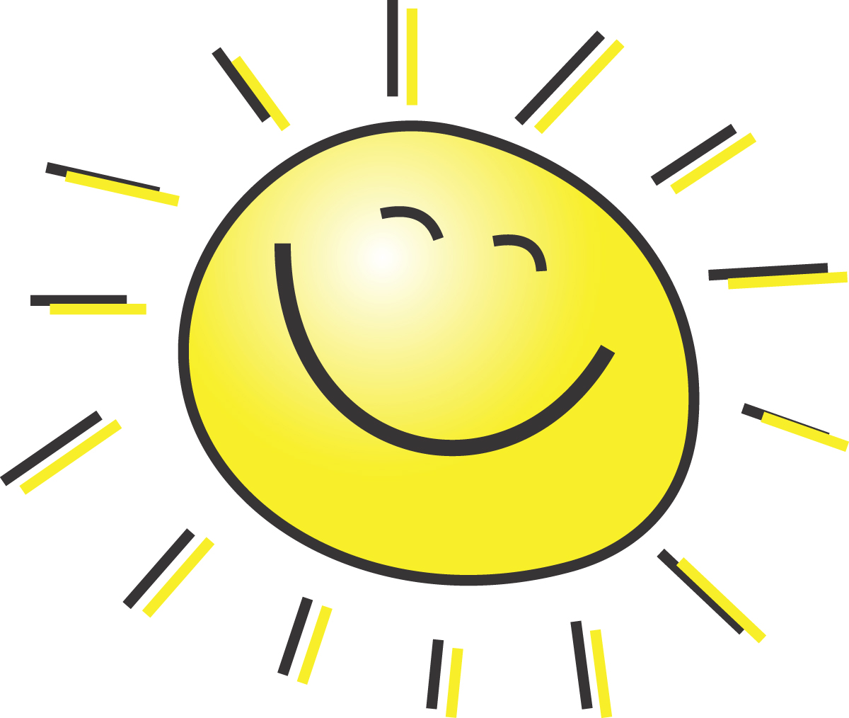 summer clipart illustration of a happy smiling sun rh free clipartof com Emoticons Smiley Faces Clip Art smiley sun face clipart free