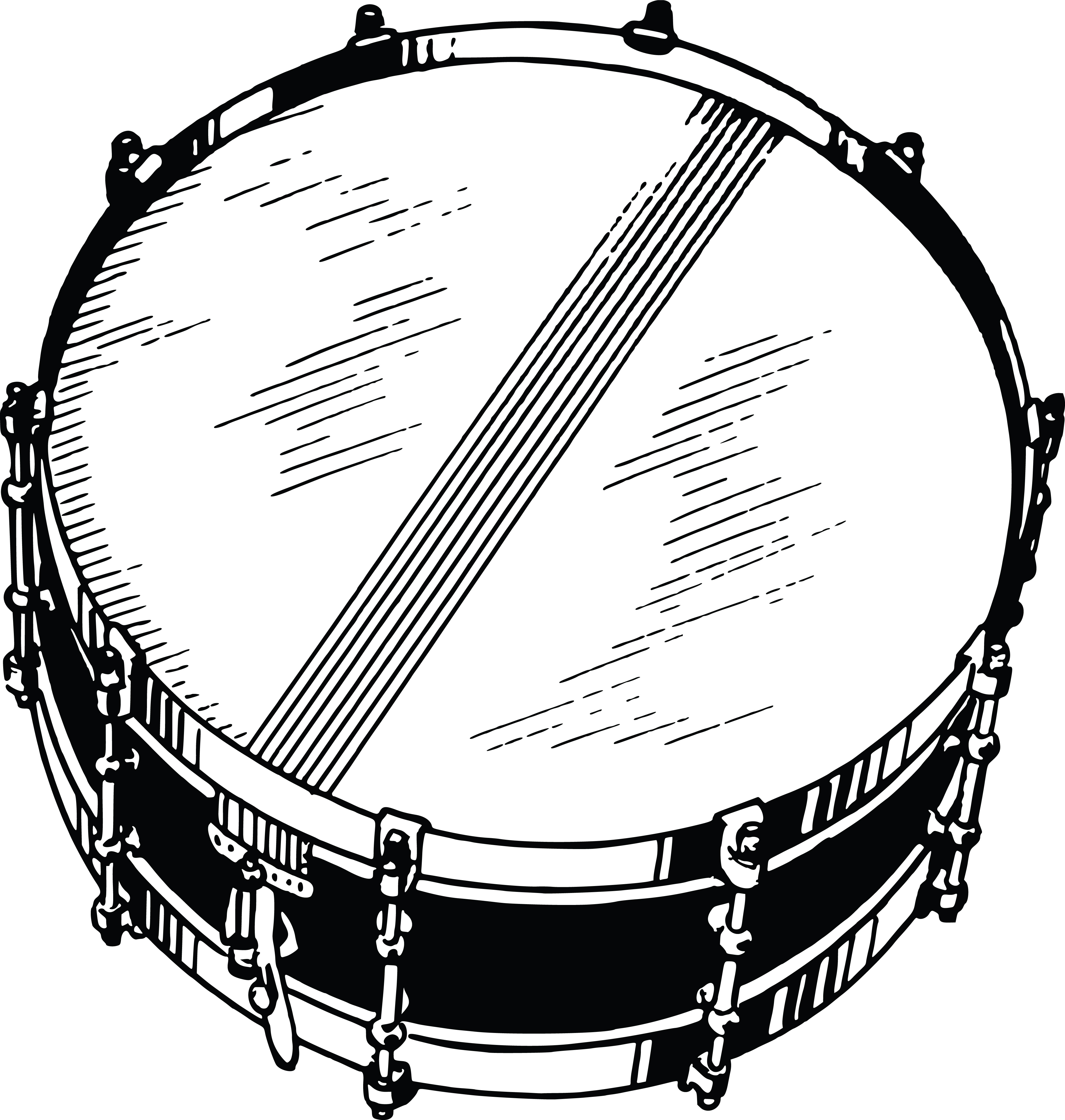 Free Clipart Of A Snare Drum 0001514
