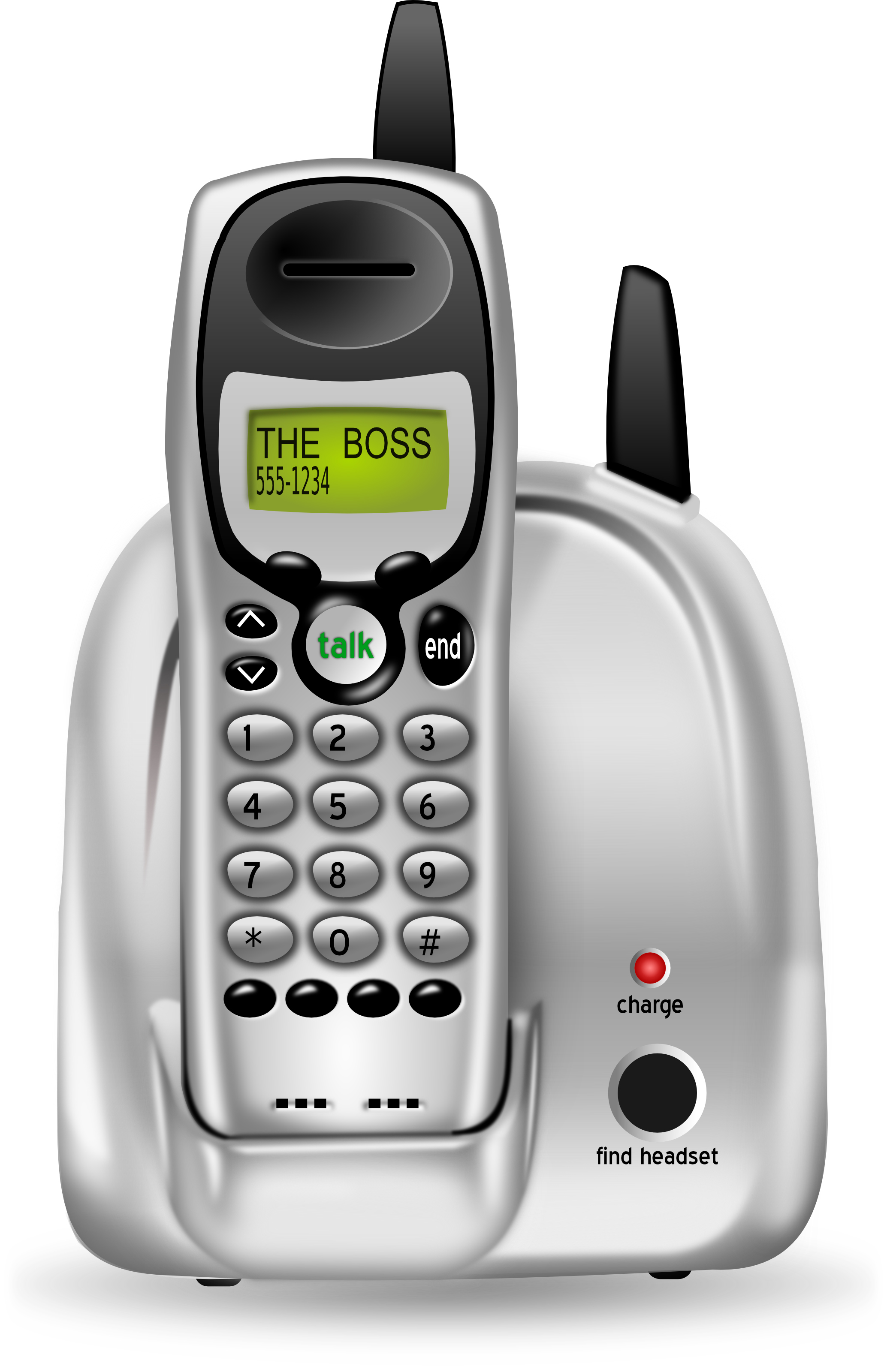 Free 3d cordless phone clipart illustration for Home telecom