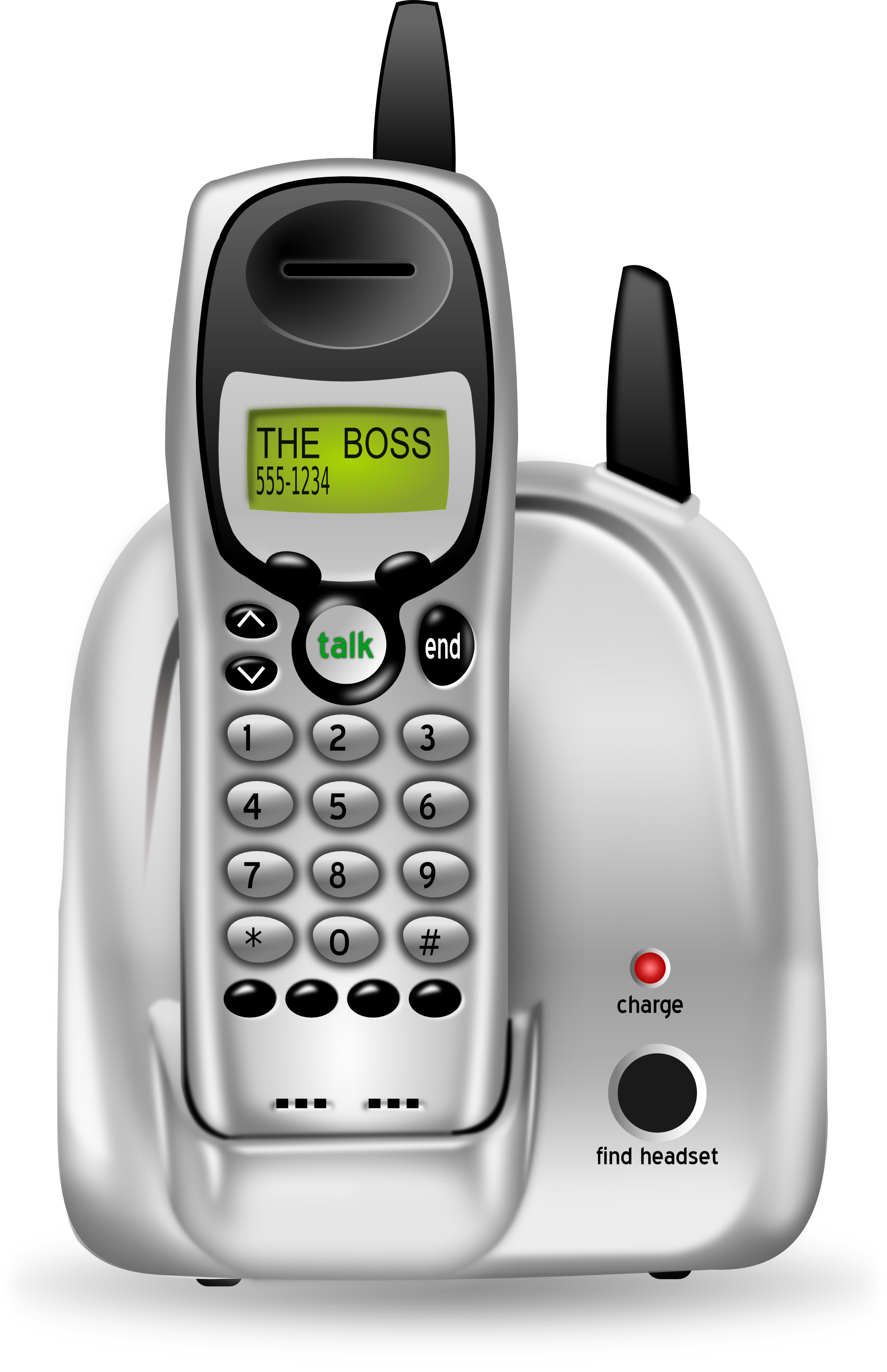 free 3d cordless phone clipart illustration Helping Hands Clip Art Office Assistant Clip Art