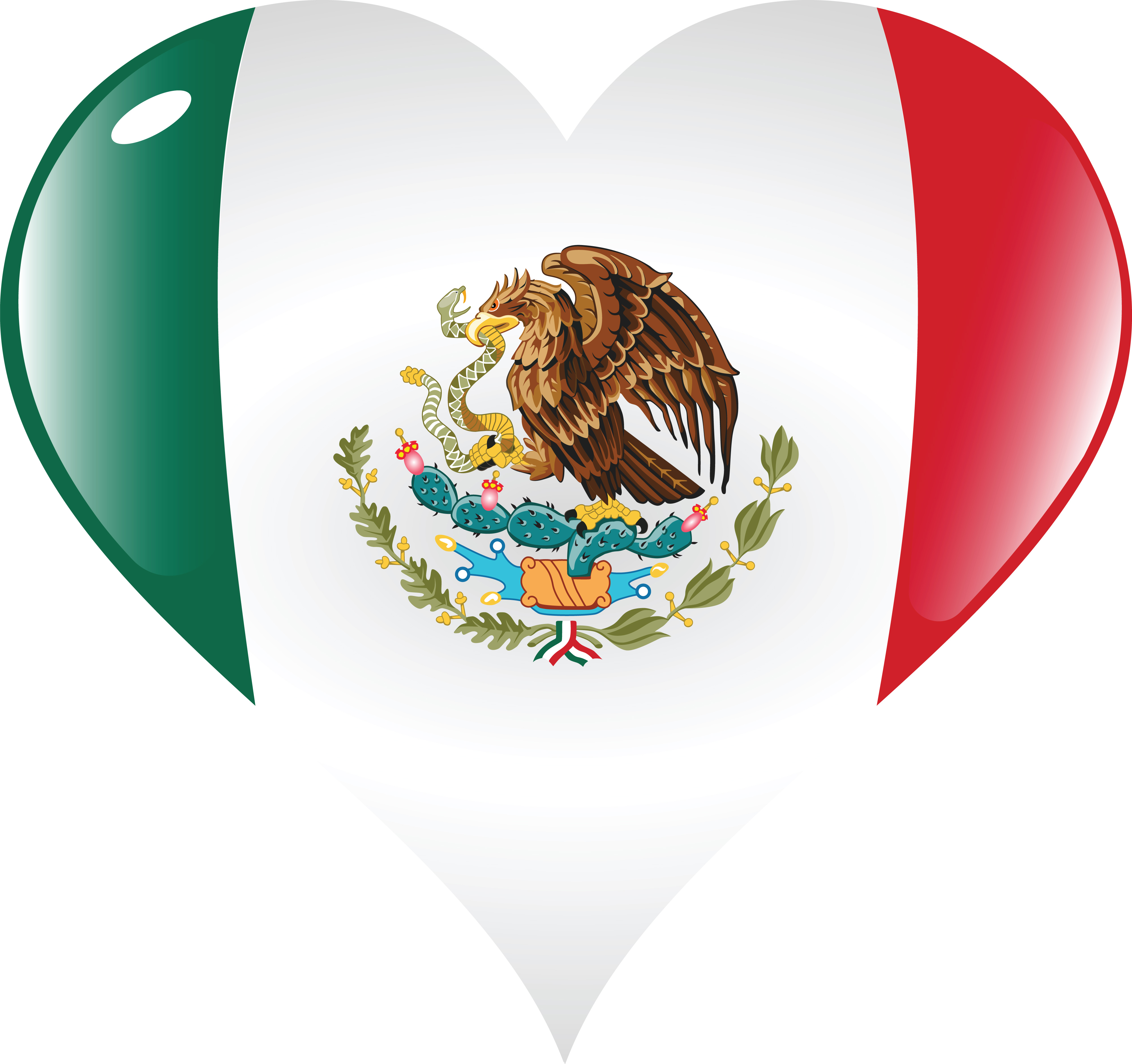 clipart of a mexico flag heart