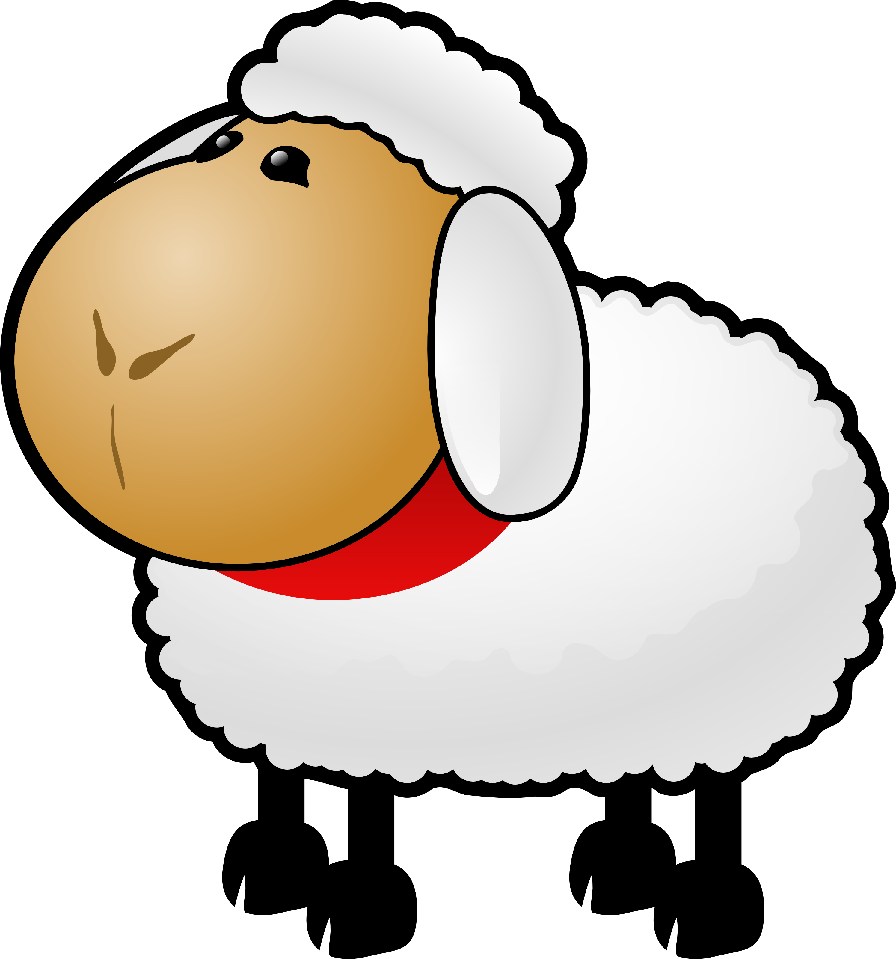 Free Cartoon Sheep Clipart Illustration by 000154