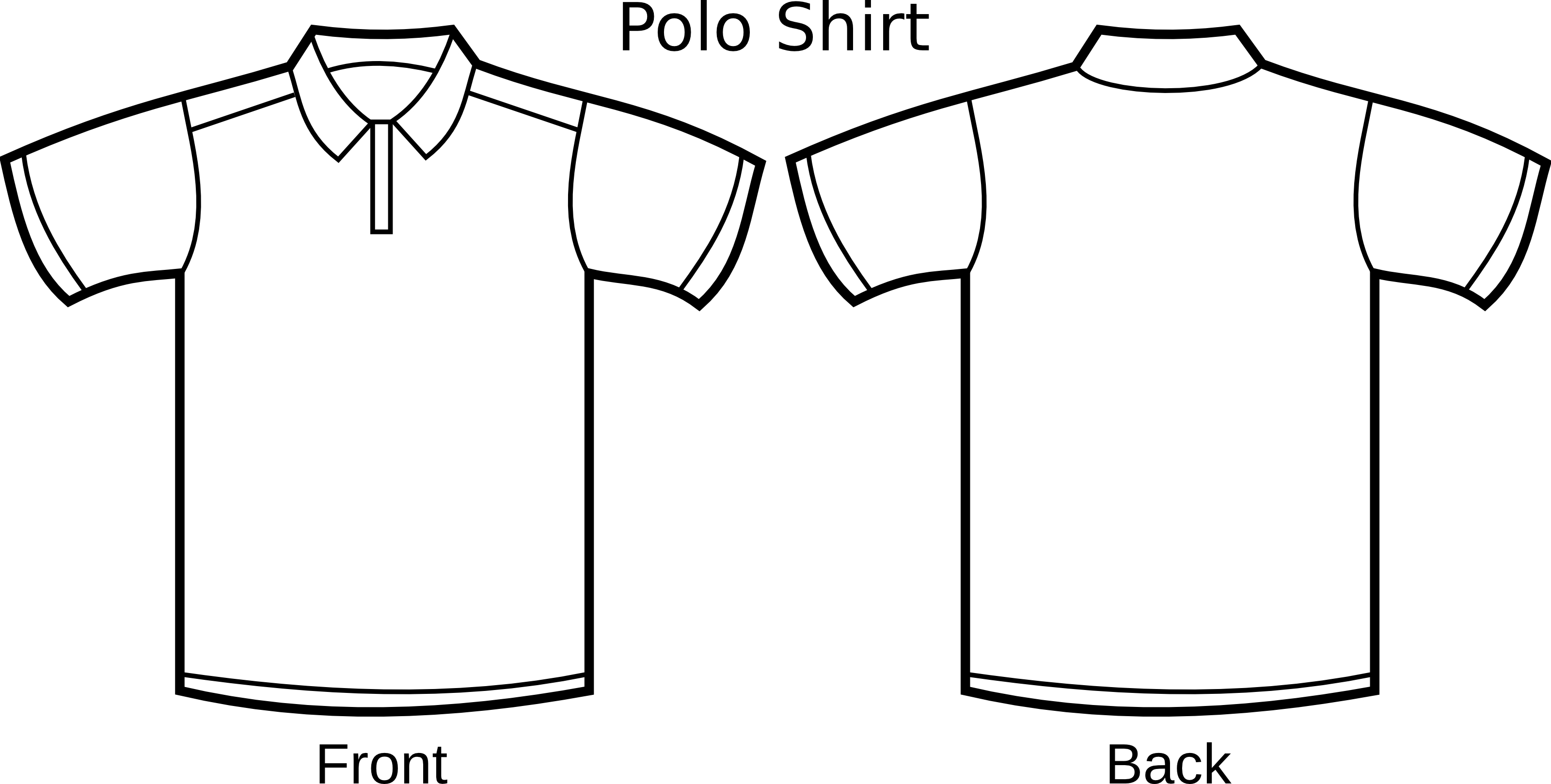 Free Polo Shirt Template Clipart Illustration by 000155