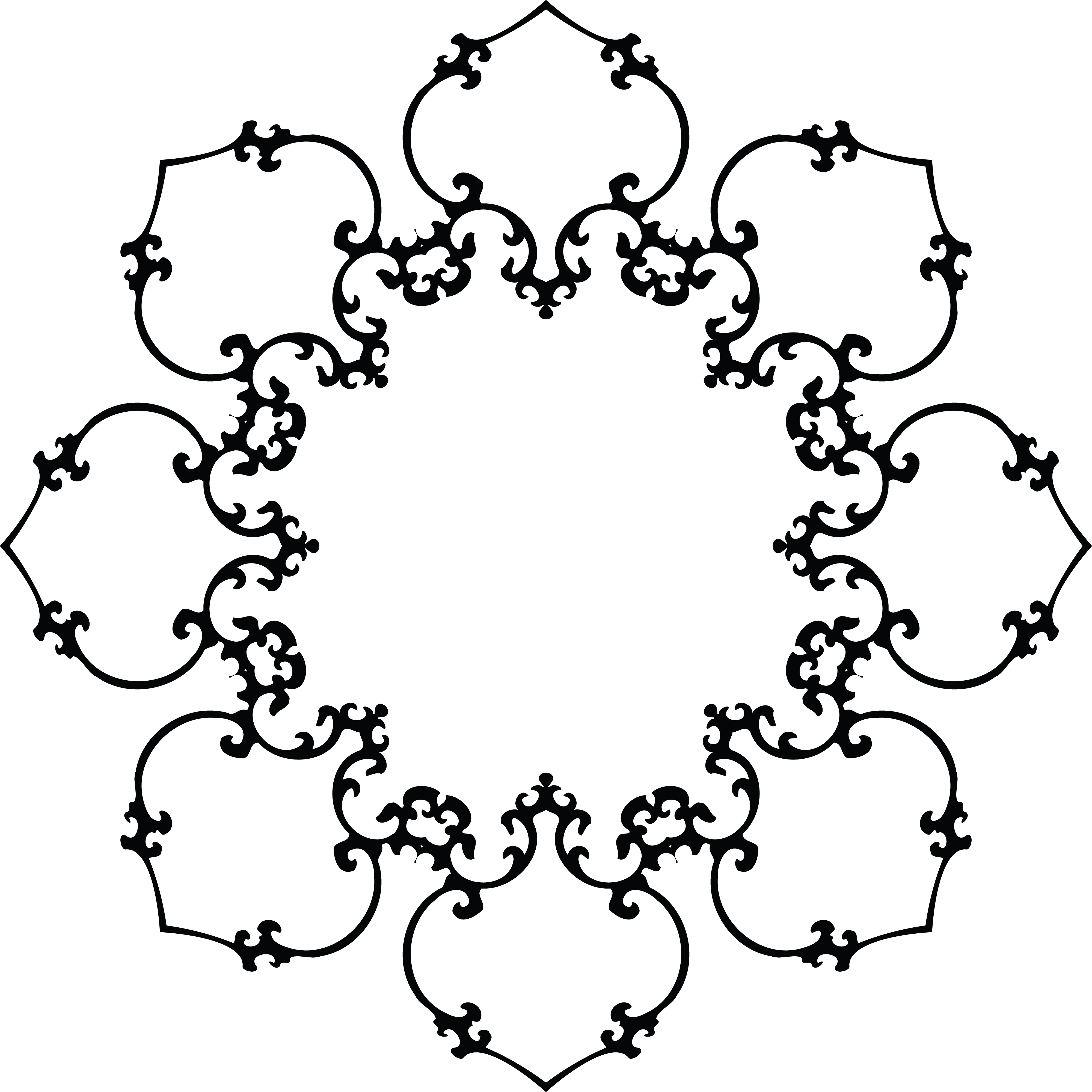 clipart of a fancy floral frame black and white rh free clipartof com clip art fancy numbers funny clip art