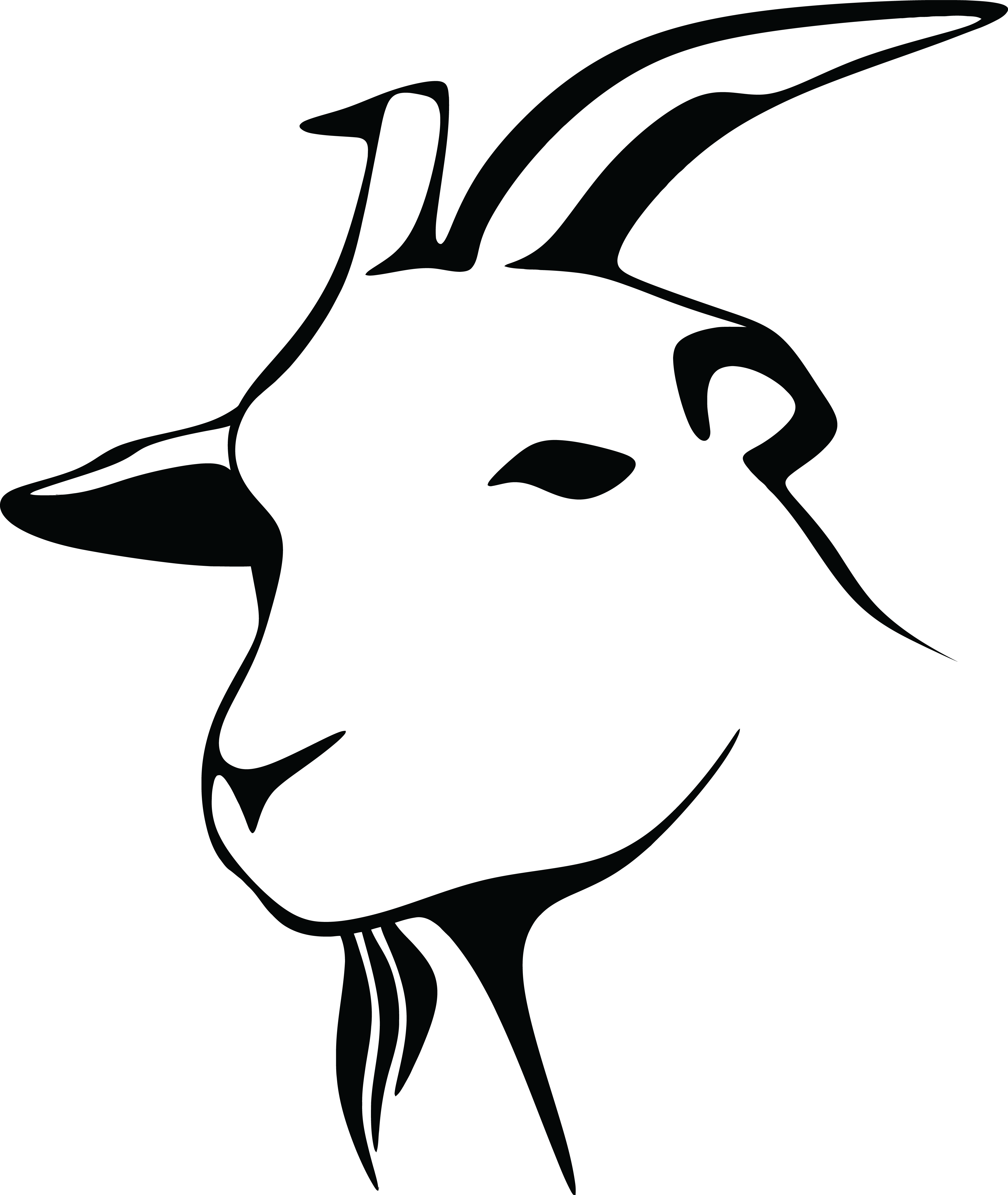 free clipart of a black and white goat head rh free clipartof com goats clip art pictures goat clip art images