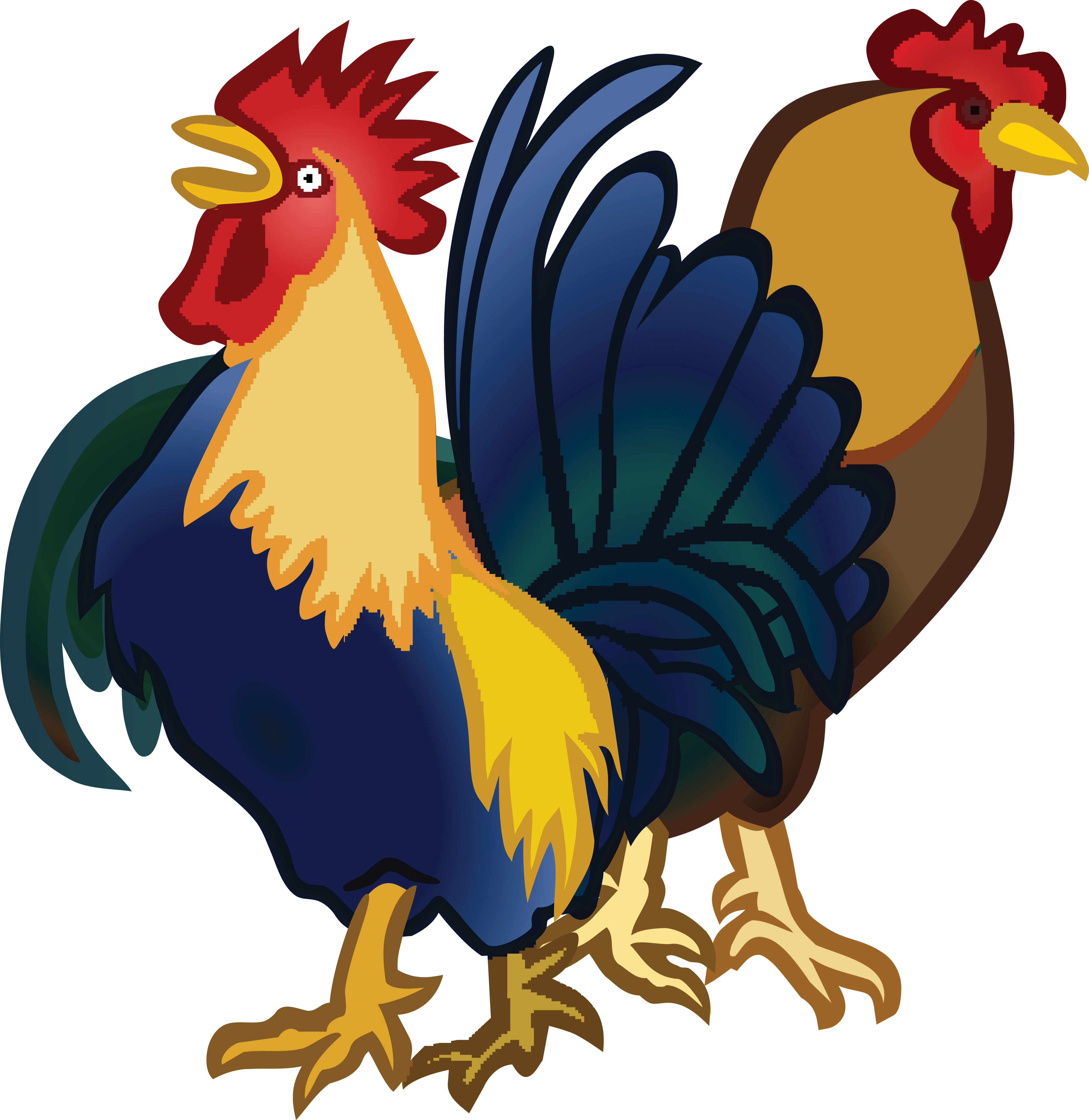free clipart of a rooster and hen rh free clipartof com rooster clip art free pictures
