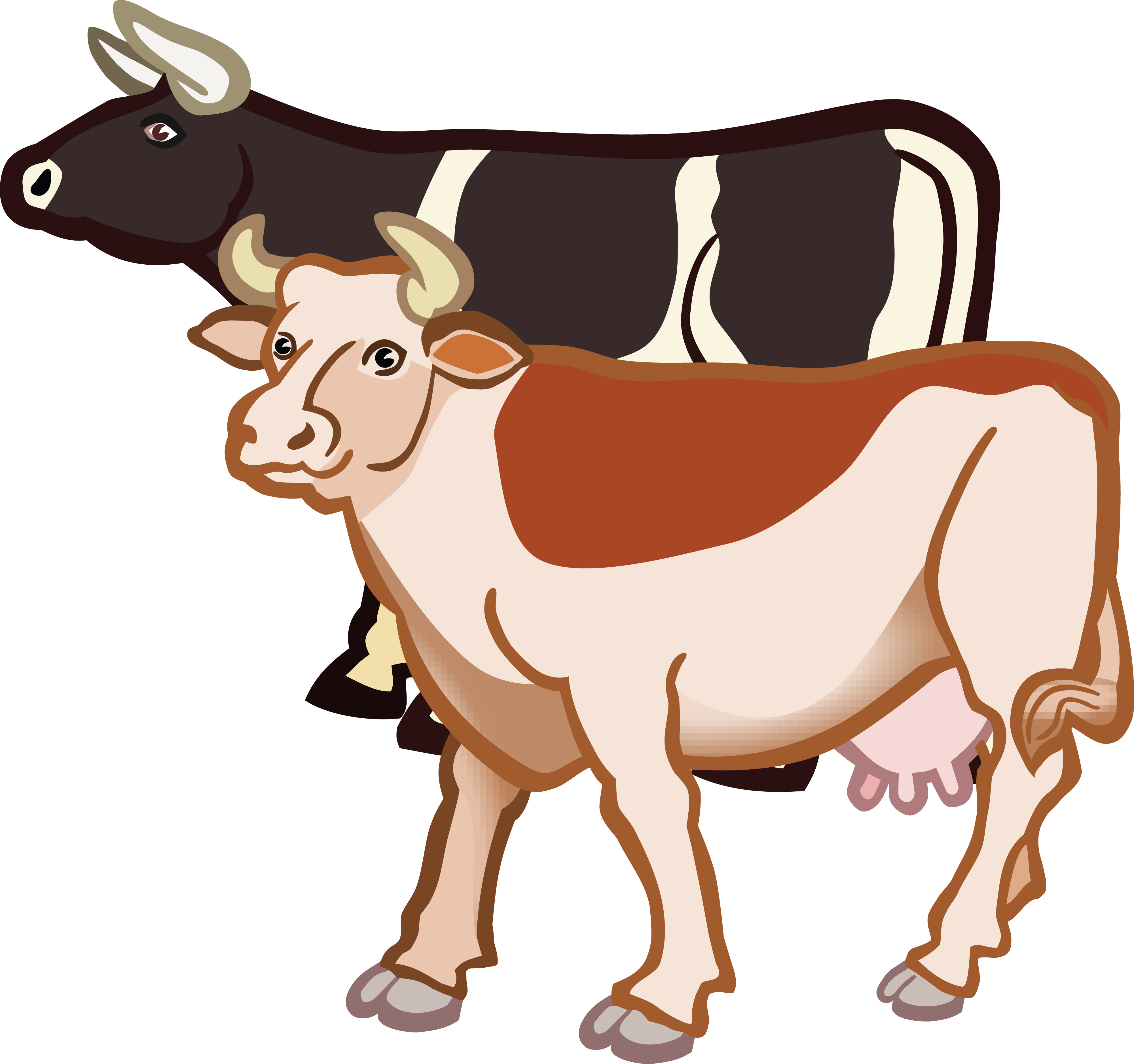 free clipart of a pair of cows rh free clipartof com clip art crows clip art cows free