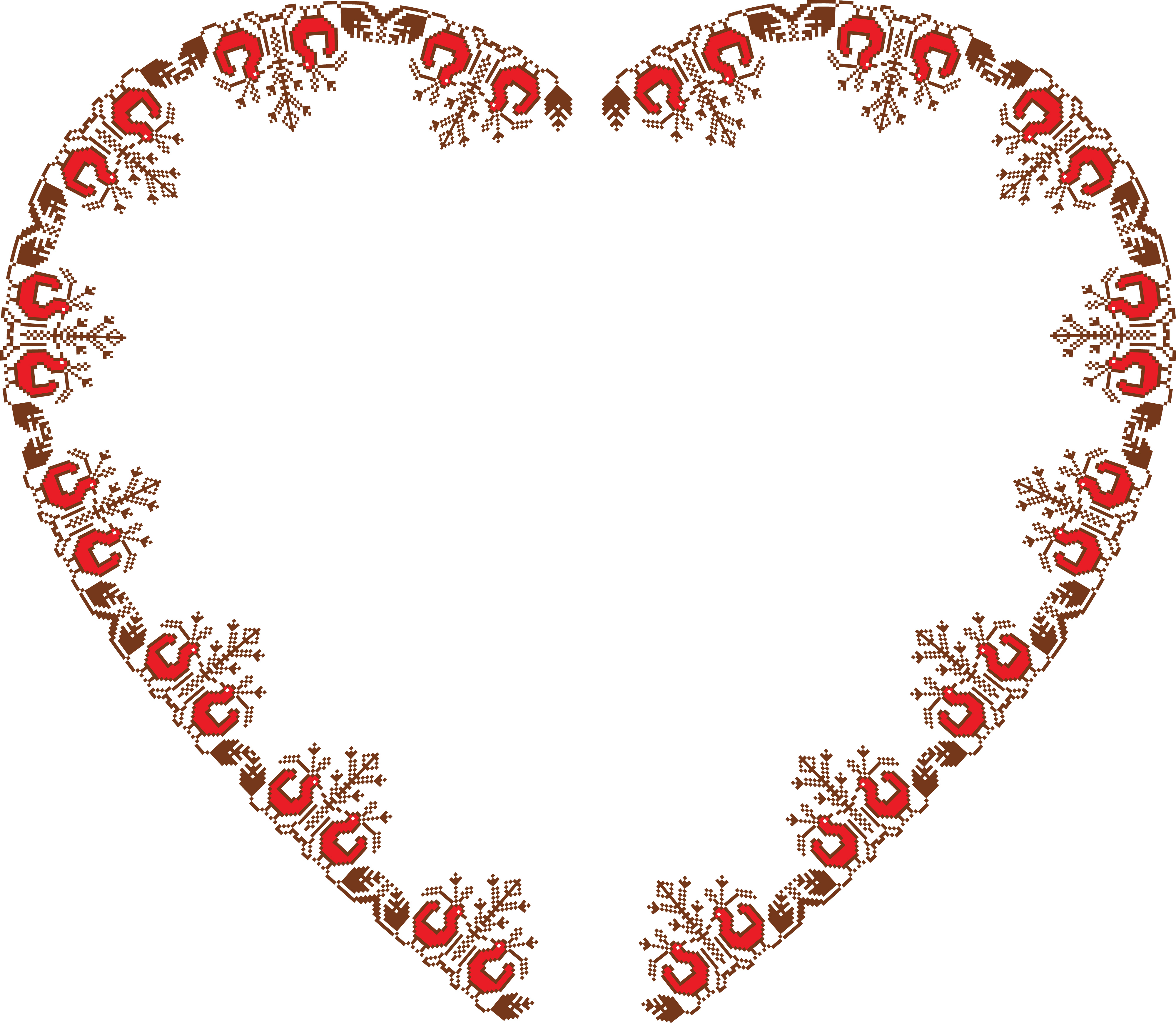 free clipart of a vintage embroidery heart frame