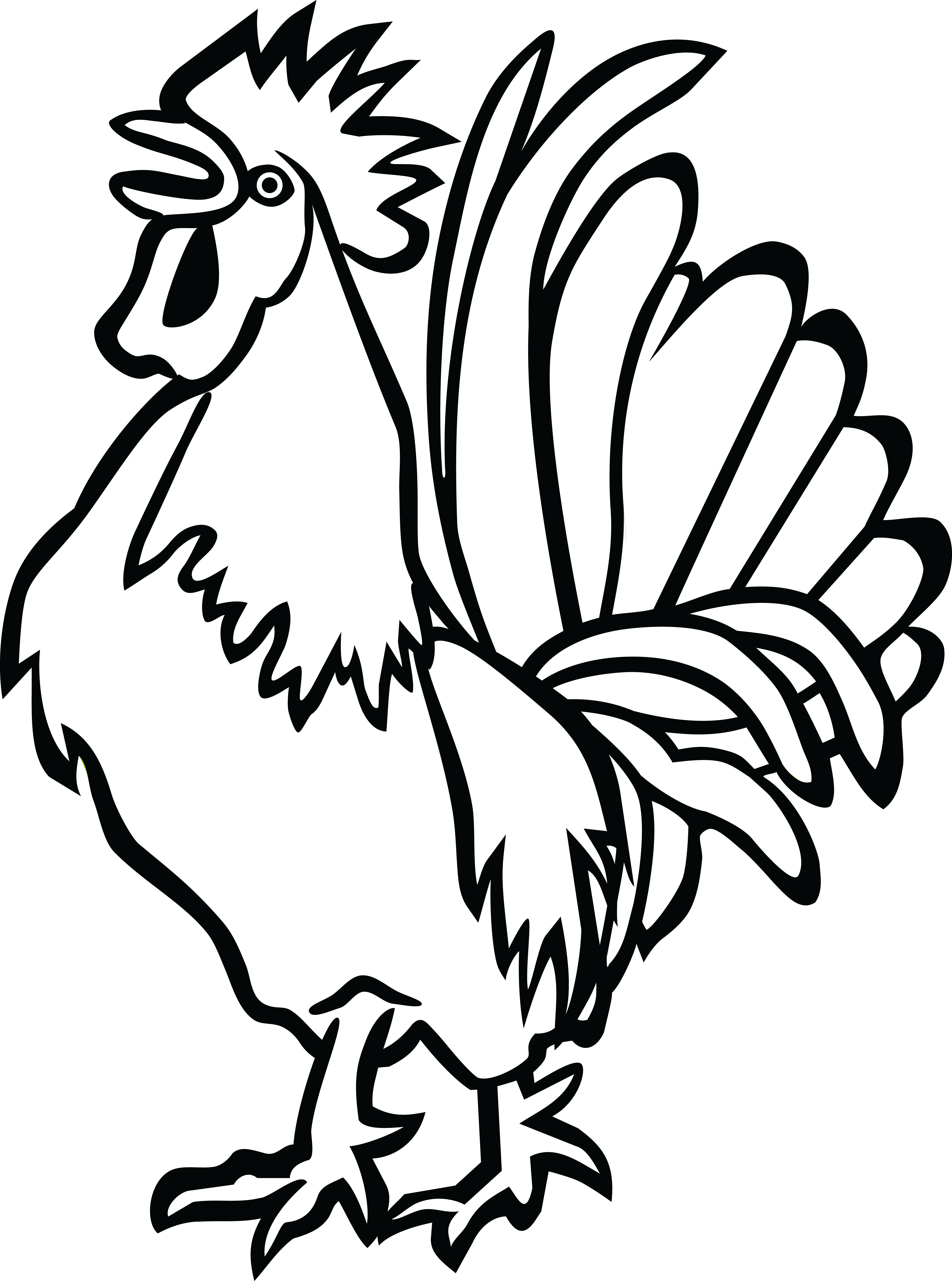 free clipart of a rooster
