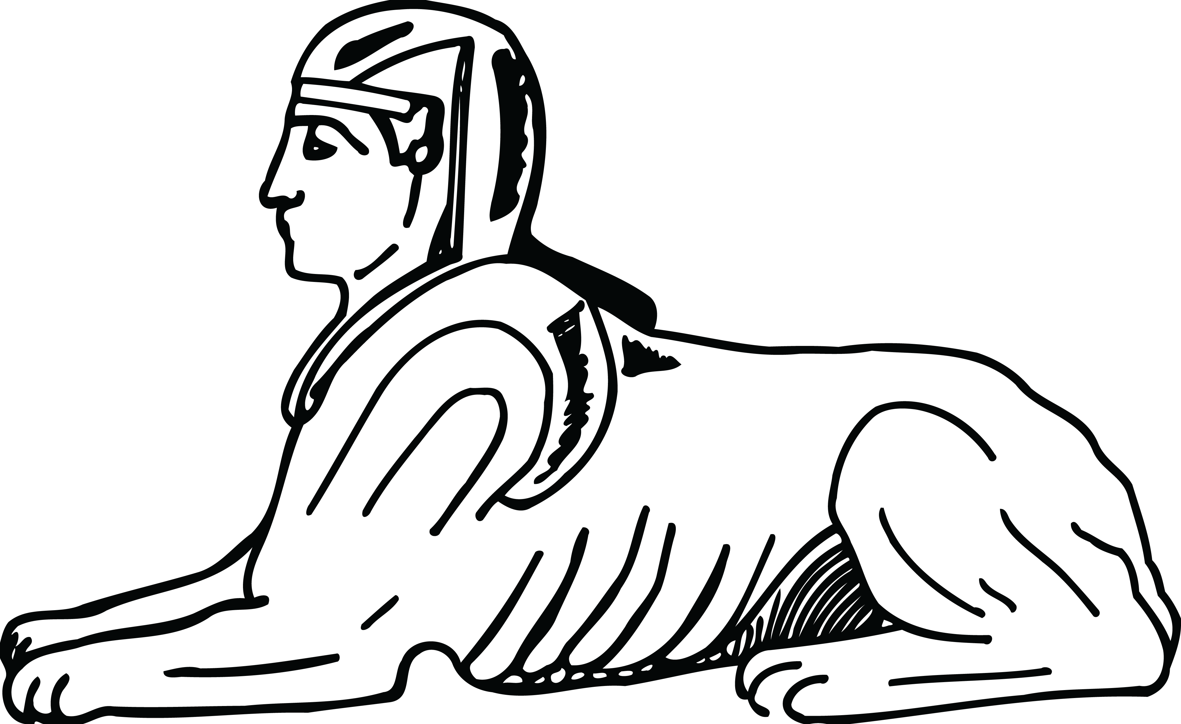 free clipart of an egyptian sphinx rh free clipartof com great sphinx clipart sphinx clipart black and white