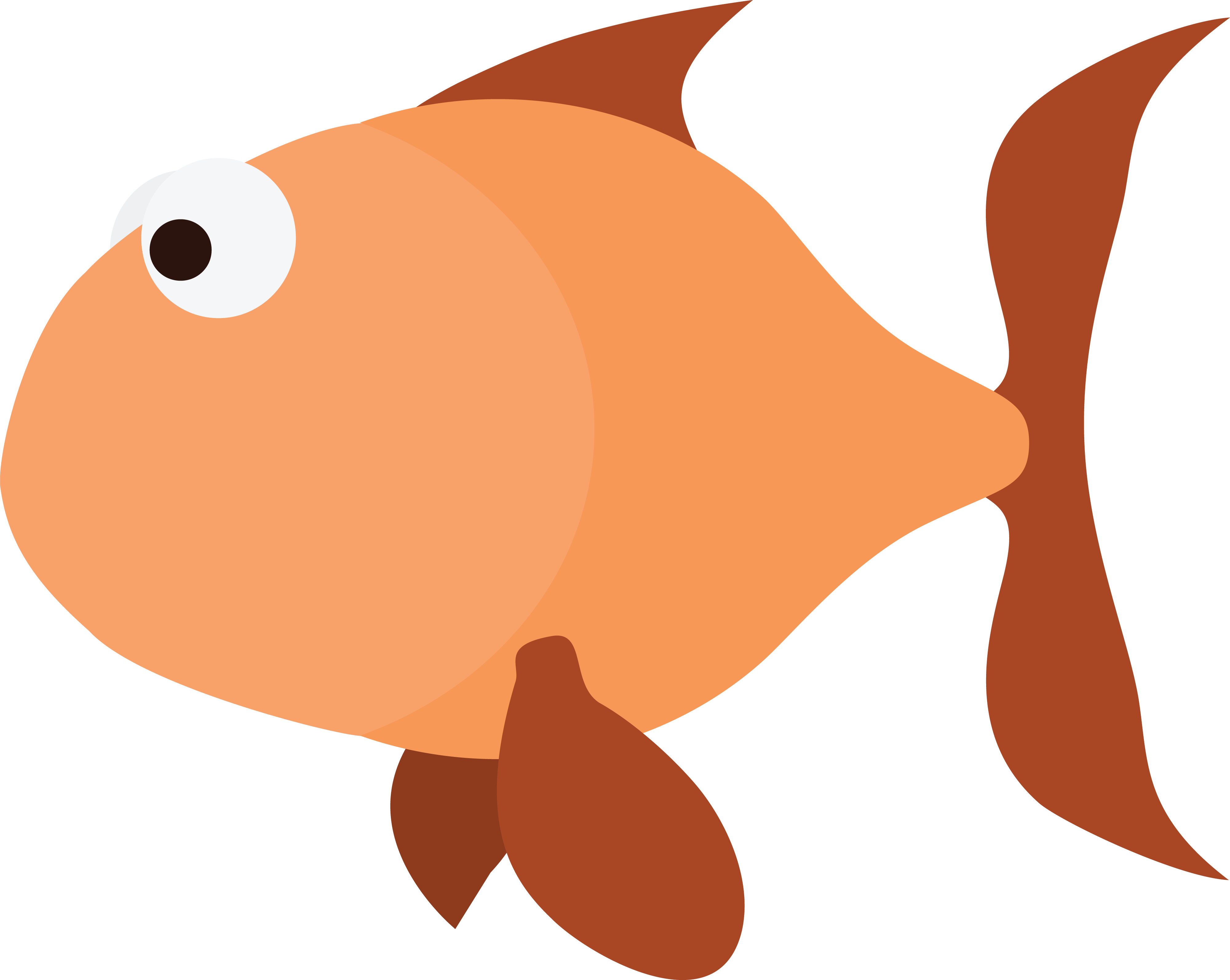 Free clipart of an orange fish for Fish clipart images