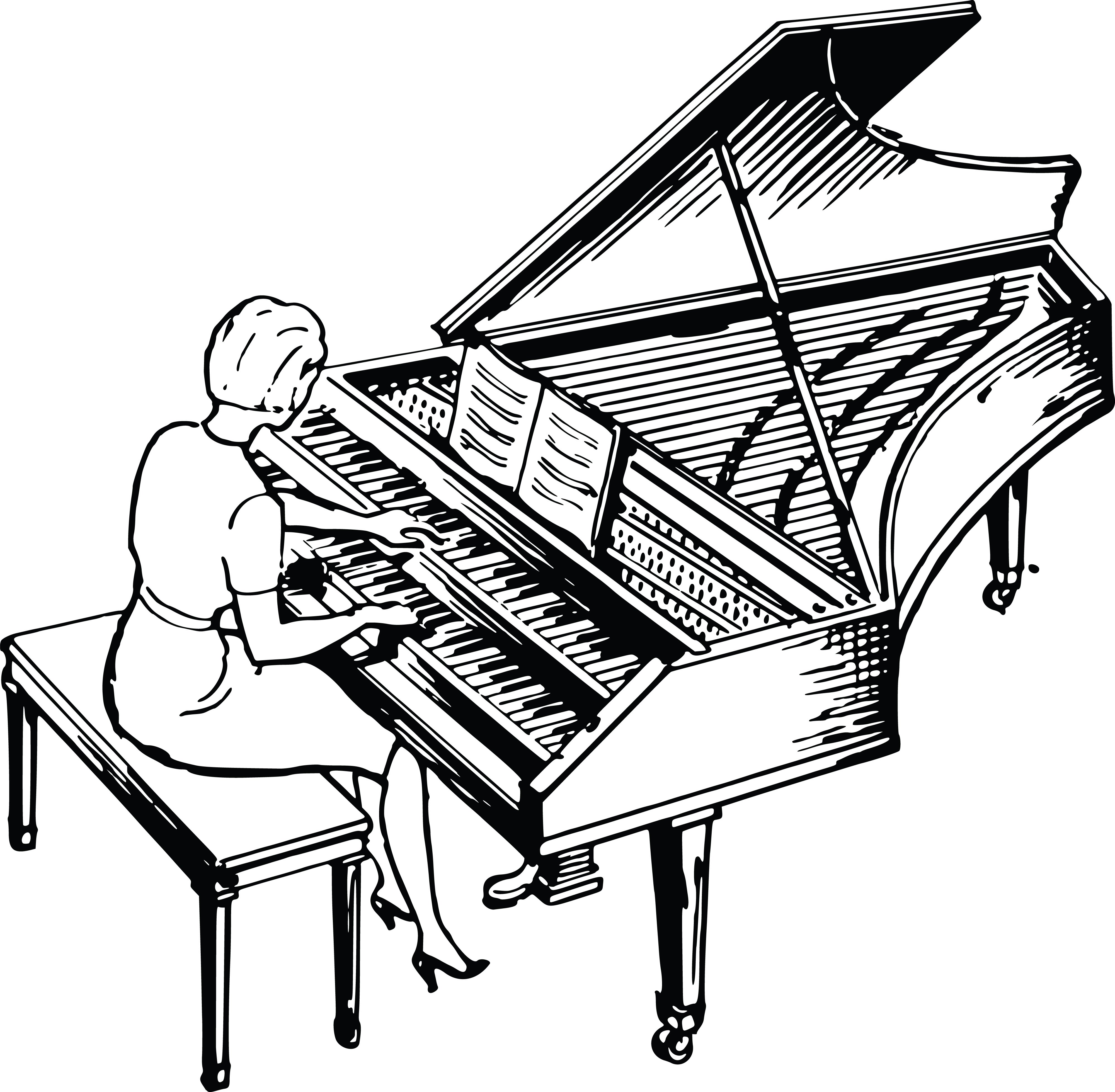 clipart of a woman playing a piano rh free clipartof com piano clipart free download vector piano clipart free download