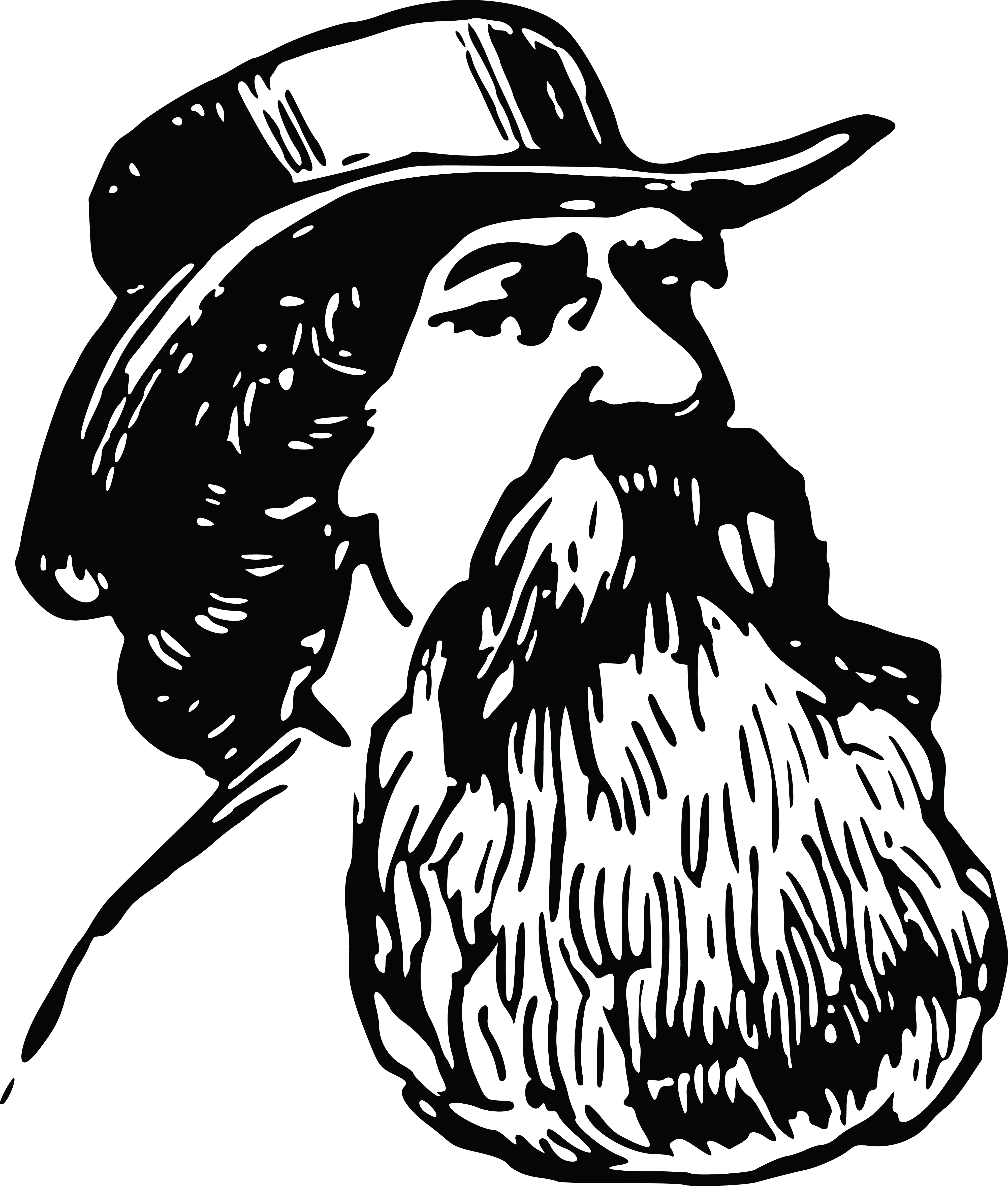 free clipart of a man with a beard