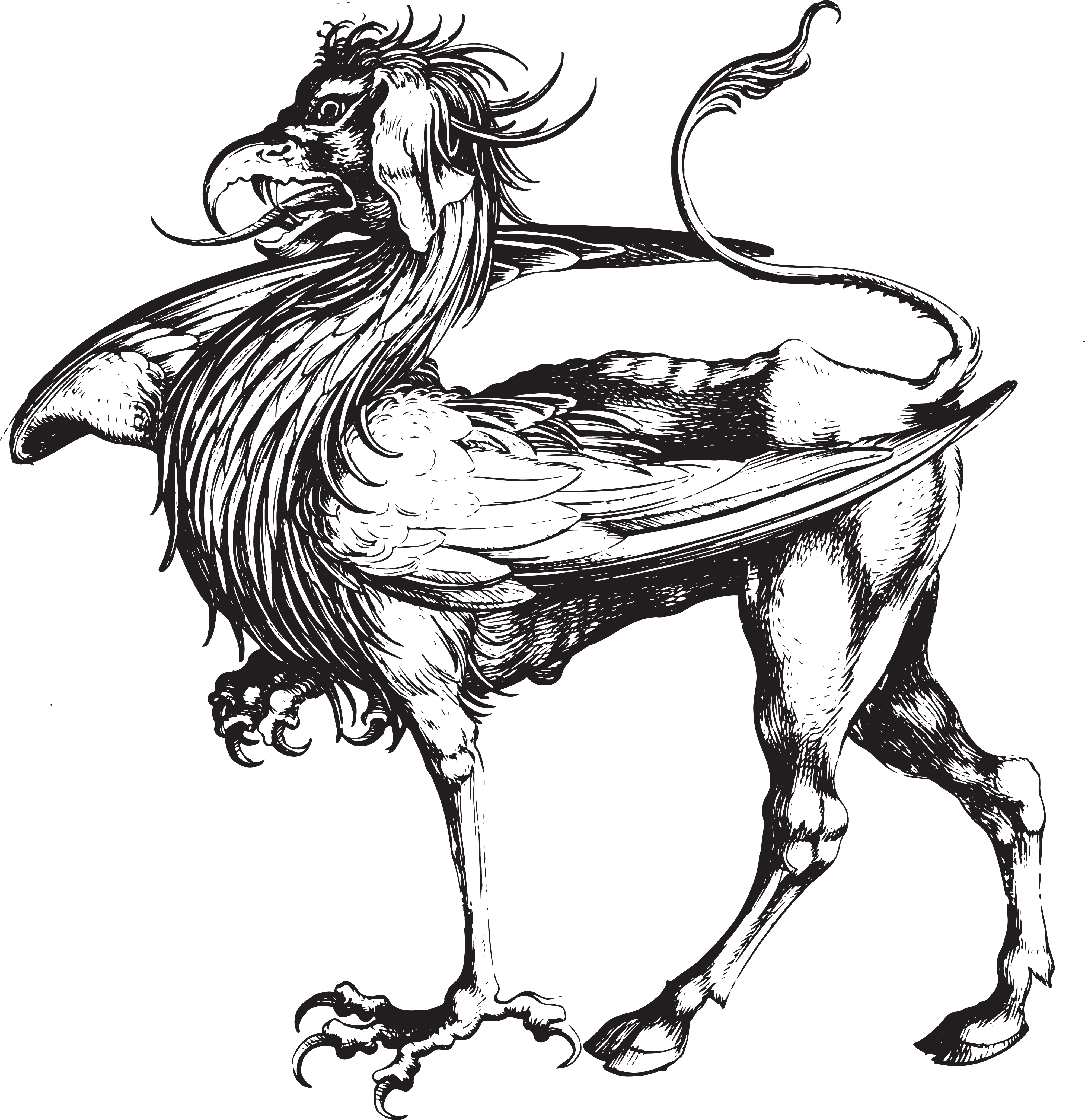 Free Clipart Of A Griffin