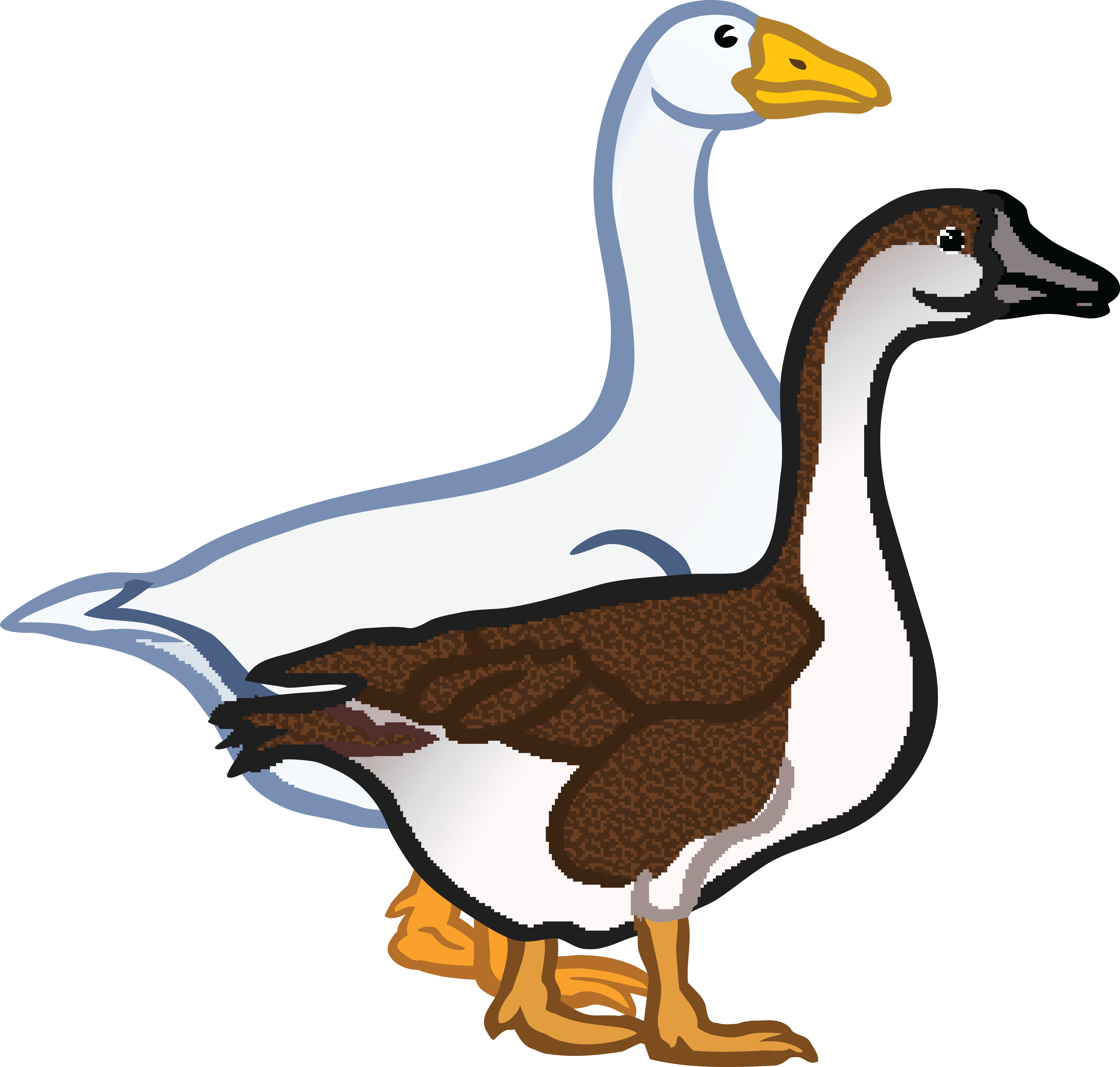 free clipart of a pair of geese rh free clipartof com geese clipart black and white goose clipart black and white